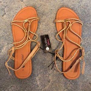 NWT Gold/Tan Sandals